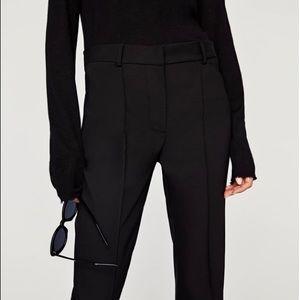 Zara NWT skinny bootcut trouser